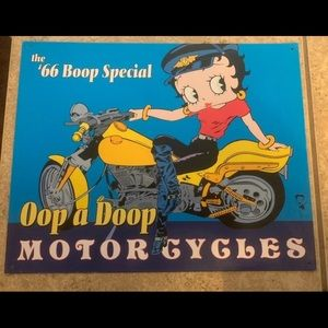 Betty Boop Other - Betty Boop Collectible Metal Motor Cycle Picture